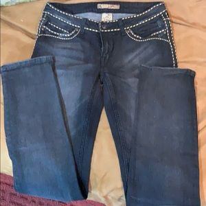 Cello black washed jeans size 13 straight leg